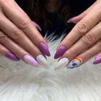 Day 319: My Little Pony Nail Art