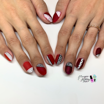 Day 326: Shades of Red Nail Art