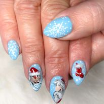 Day 340: Winter and Christmas Nail Art