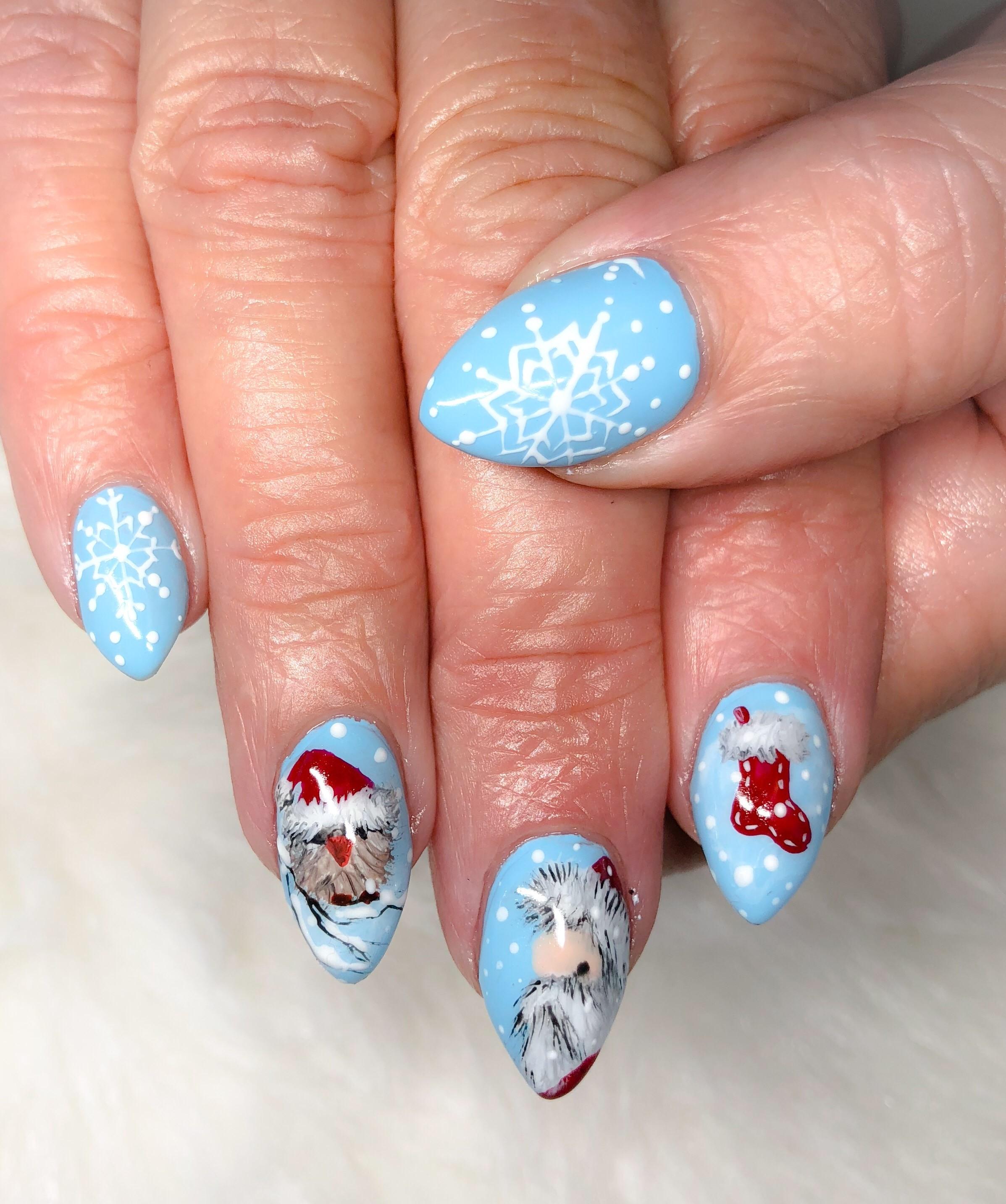 Day 340: Winter and Christmas Nail Art