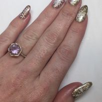 Day 342: Gold Snowflake Nail Art
