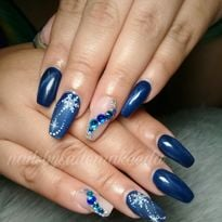 Day 347: Winter Blue Cat Eye Nail Art