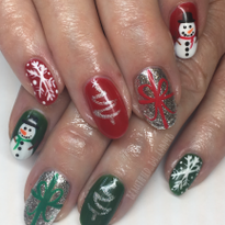 Day 352: Christmas Wrapping Nail Art