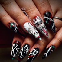 Day 356: Krampus Nail Art