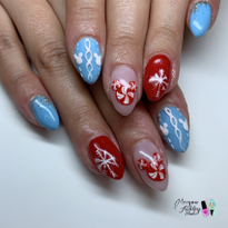 Day 360: Disney Sweater Nail Art