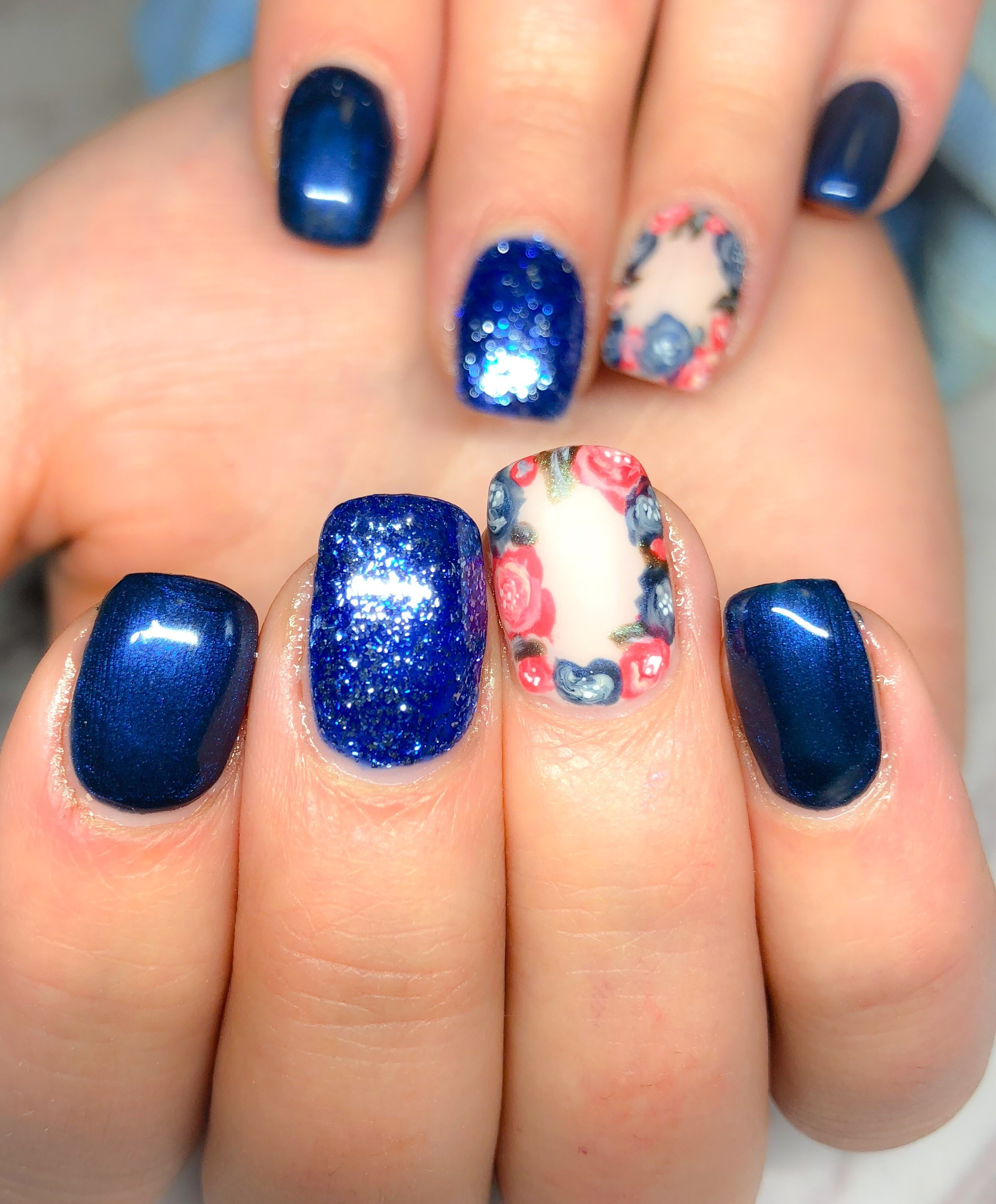 Day 197: Floral Accents Nail Art