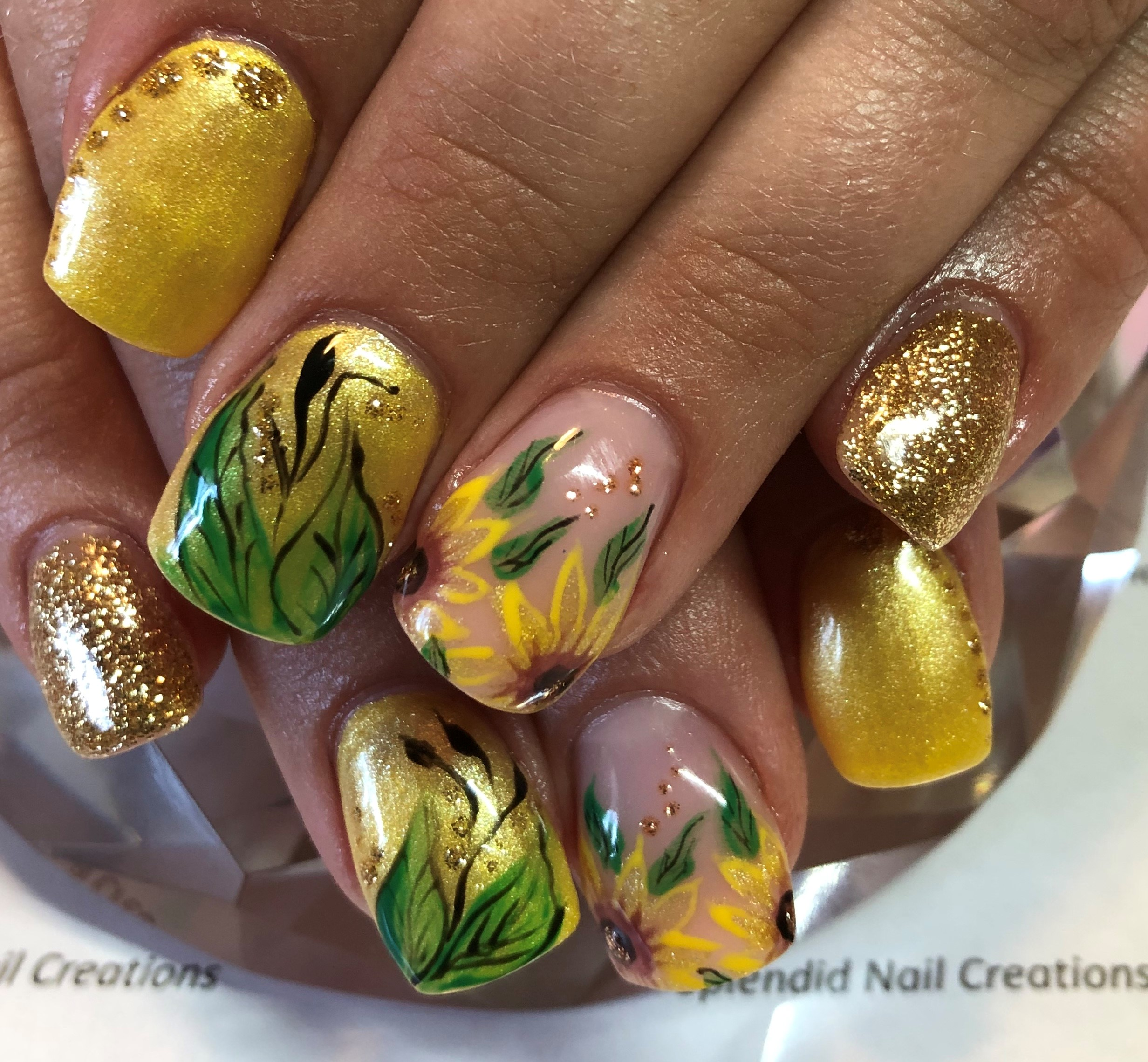 Day 199: Summer Sunflower Nail Art