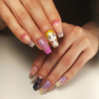 Day 202: Flowers and Sailor Moon Nail Art