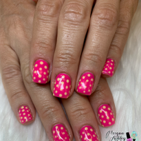 Day 217: Pink Polka Dot Nail Art