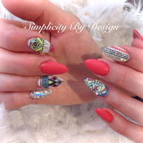 Day 233: Trendy Summer Nail Art