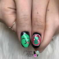 Day 234: Invader Zim Nail Art