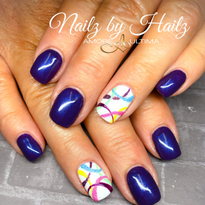 Day 238: Abstract Accent Nail Art