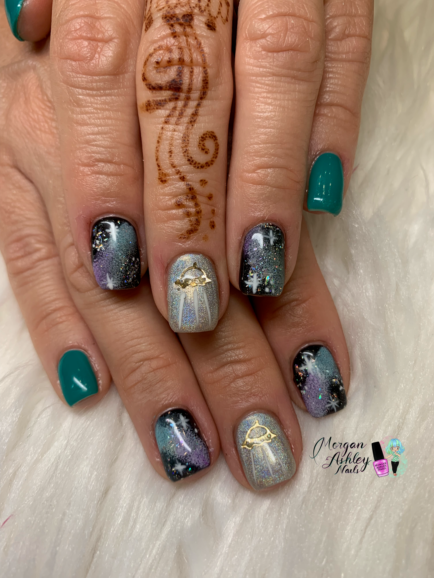 Day 241: Space Nail Art