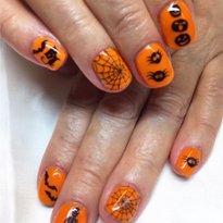 Day 280: Spooky Cute Halloween Nail Art