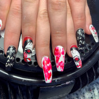 Day 284: Horror Icon Nail Art