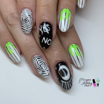 Day 287: Beetlejuice Ouija Board Nail Art
