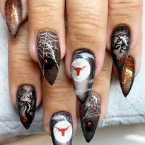Day 289: College Football and Halloween Nail Art