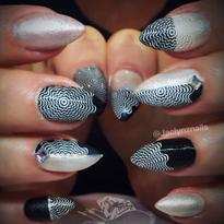 Day 247: Glitter and Illusion Nail Art