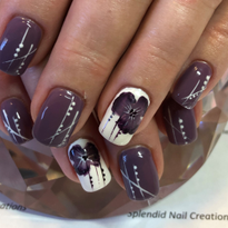 Day 248: Purple Flower Nail Art