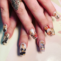 Day 254: Vintage, Camo, and Colorful Nail Art