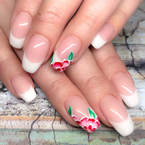 Day 257: Floral French Nail Art