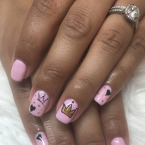 Day 259: Princess Crown Nail Art
