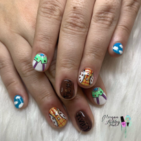 Day 262: Toy Story Nail Art