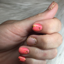Day 273: Orange and Gold Nail Art