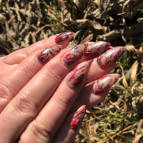 Day 274: Halloween Splatter Nail Art