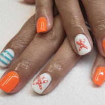 Day 244: Heart and Starfish Nail Art