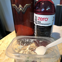 Plenty of water and a healthy lunch at the salon keep my day on track.