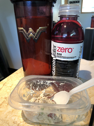 Plenty of water and a healthy lunch at the salon keep my day on track.  -