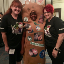 #BFFmel and I pose with an enthusiastic attendee.