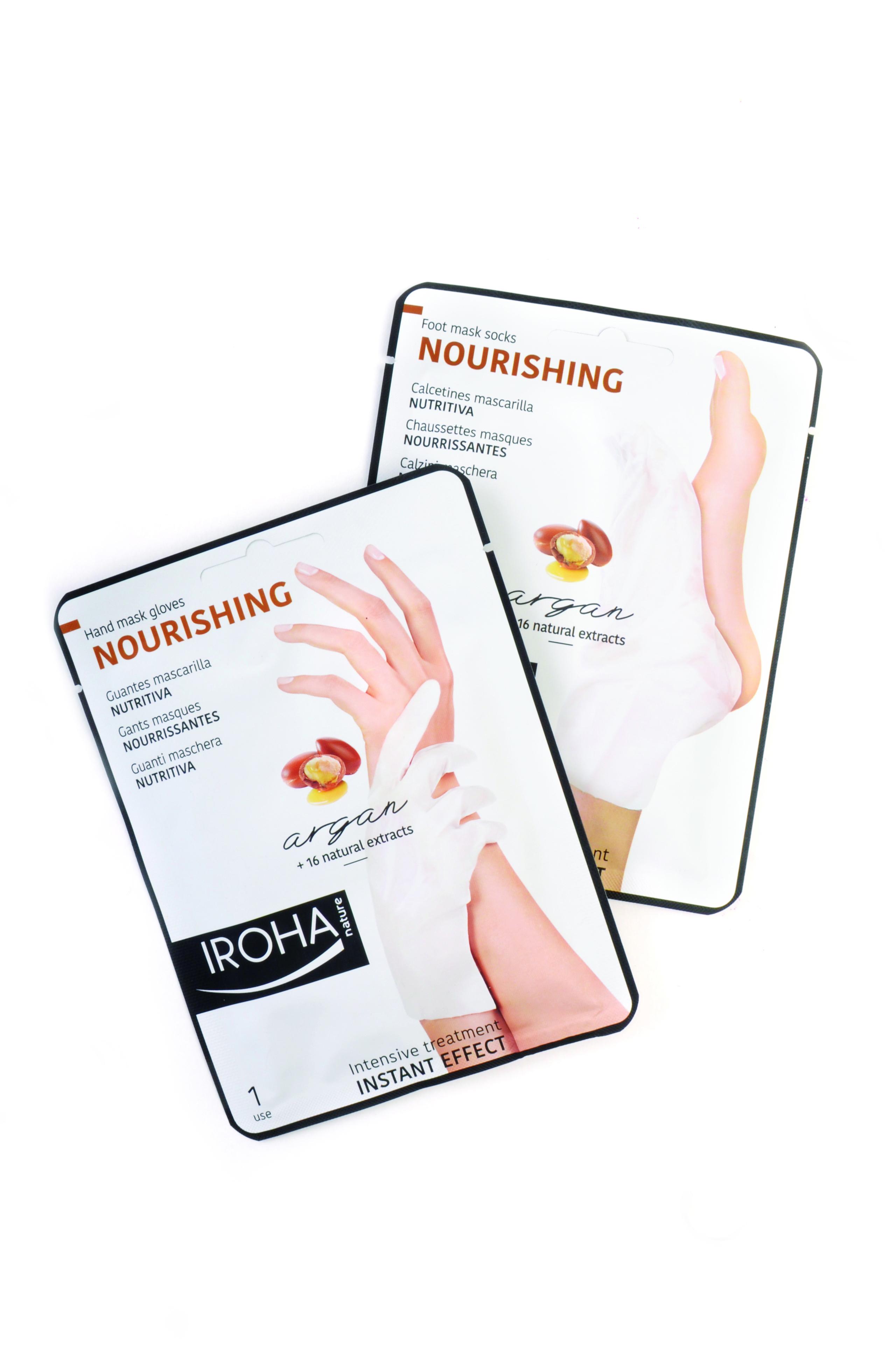 Iroha Hand and Foot Masks Nourish Skin