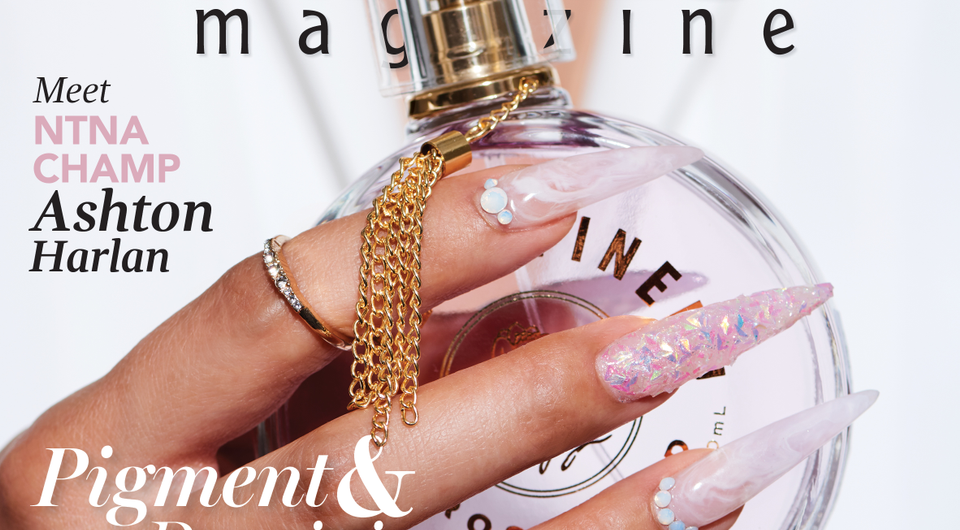 Behind the Scenes: Pink and White Marble Nails
