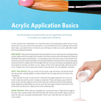 Handout : Acrylic Application Basics
