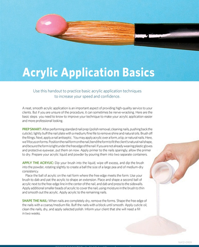 Handout : Acrylic Application Basics