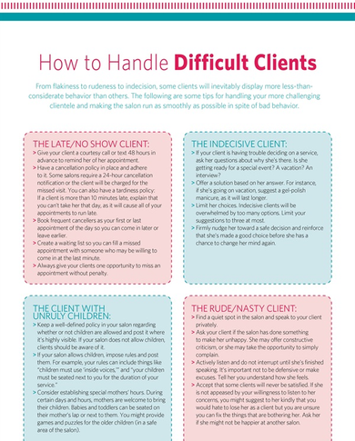 Handout : How to Handle Difficult Clients