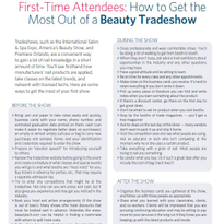 How to Get the Most Out of a Beauty Tradeshow