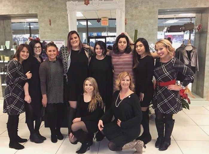 The team from Salon Secrets Spa in Kennett Square, PA. 