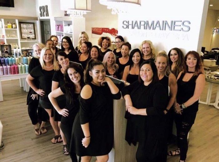 The team from Sharmaine's Salon and Spa in Clearwater Beach, FL.