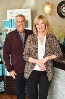 Terry and Tami Abraham, owners of I Design Salon and Blow-dry Bar in Hinsdale, Illinois. -