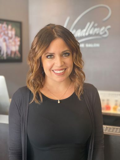 Director of Operations Brittni Arhart of Headlines The Salon in Encinitas, California. -