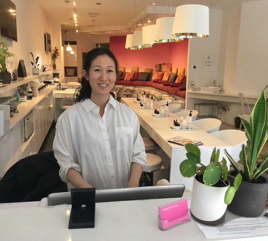 <p>Tina Wang, co-owner of Dashing Diva Nail Lounge in Brooklyn, New York, has used her SpotOn software to query clients on a new non-toxic nail line.</p>