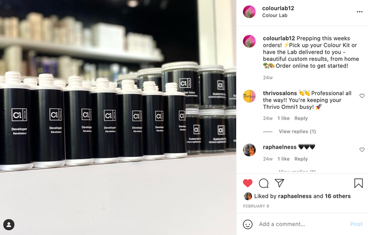 Colour Lab relies on social media to market the at-home color kits.  -