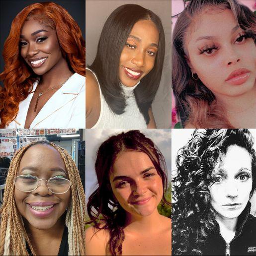(Top L-R): Adrienne Berry, Kayla Cannady-Truewell, Kalyan Collins (Bottom L-R): Laurie Fekete, Megan McDonald, Kelly Renaud  -