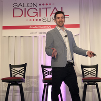 Phorest's Chris Brennan on stage at Salon Digital Summit.