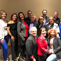 A group shot of the coaches and consultants who gave Ted Talk-style presentations at the 2019...