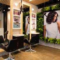 A living wall adds to the natural element of the salon. Owner Michaella Blissett Williams wanted...