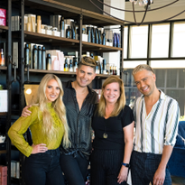 Taylor Miller, Cameron Kepford and Ramiro Corrales, owners of Haus of Heir in Davenport, Iowa,...